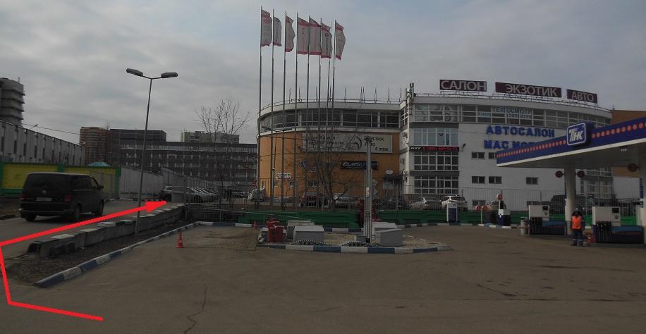 въезд с Варшавского шоссе