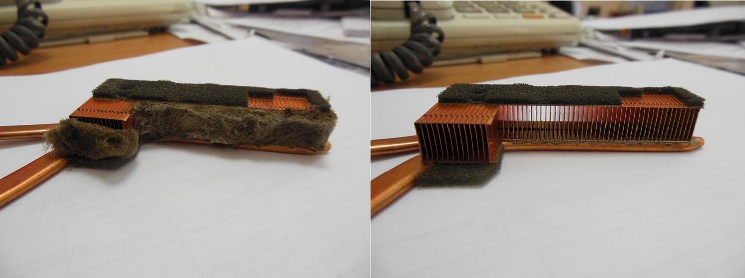 чистка радиатора ноутбука от пыли