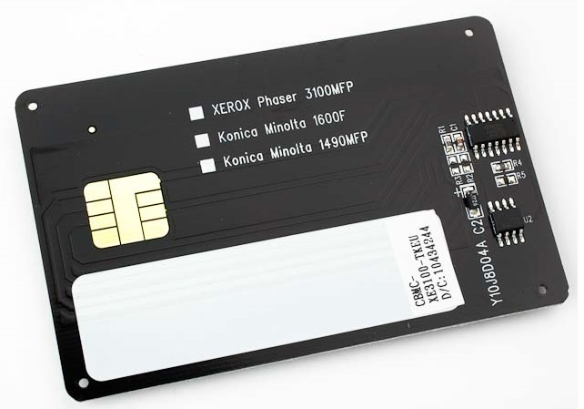 смарткарта для заправки Xerox 3100