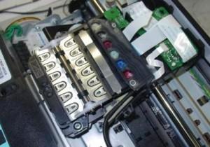 прочистка пеатающей головки принтера HP