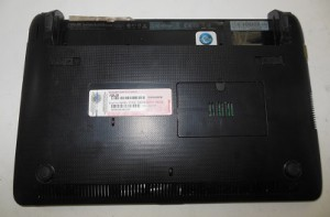 корпус ноутбука Asus eeePC1011PX снизу