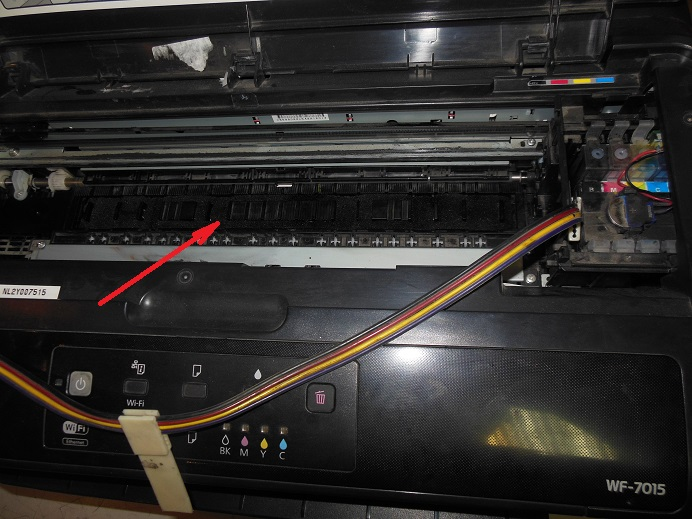 Epson wf-7015 мигает всеми индикаторами
