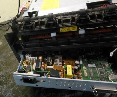 снимаем шлейфы Xerox Phaser 3130