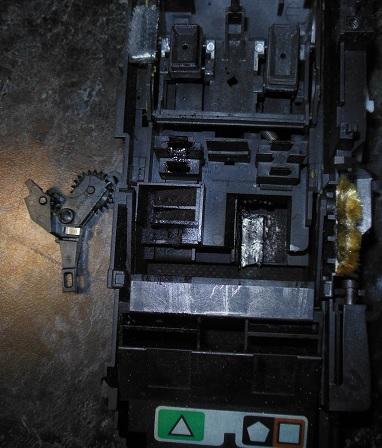 перекидной редуктор и узел очистки