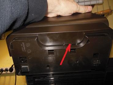 снятие боковой крышки HP 7110