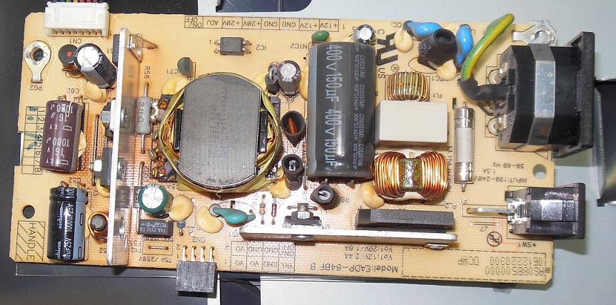 ремонт блока питания монитора Viewsonic VP2130b