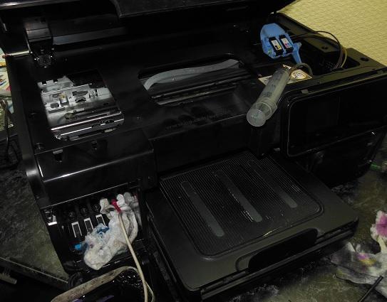 Прочистка системы подачи чернил HP OfficeJet 8500a