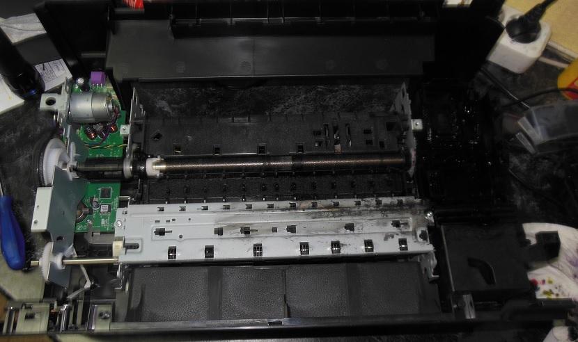 ремонт узла очистки HP b010b