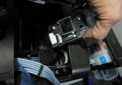 снимаем головку Epson L800