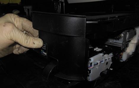 снимаем переднюю крышку Canon MX924 11
