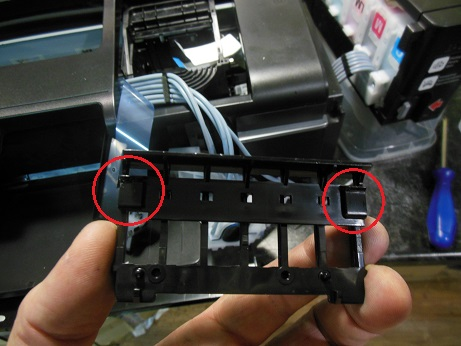 снятие головки Epson L800