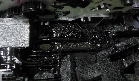 переполненный памперс принтера HP
