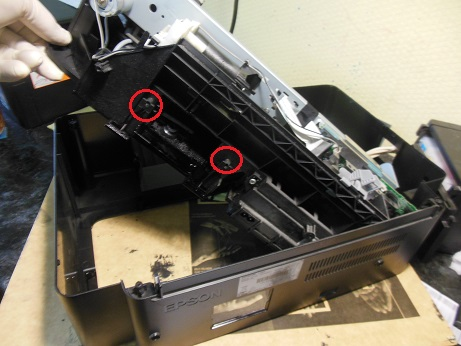 снятие памперса чистка Epson L200