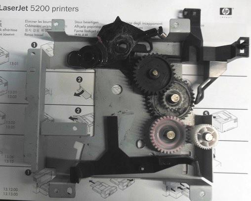 Замена блока шестерен HP LJ 5200 dtn