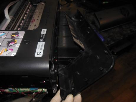 Разборка HP 7500A снятие пеоедней крышки