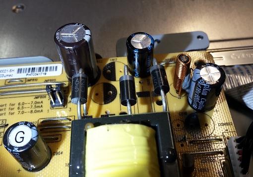 отремонтированный БП монитора