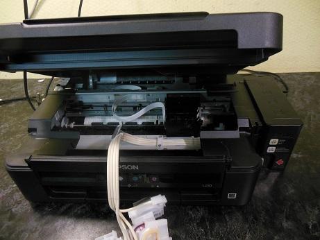 чистка печатающей головки Epson L210