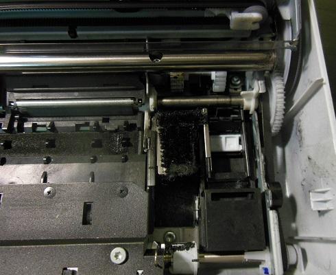 Очищенный узел чистки HP Deskjet 460