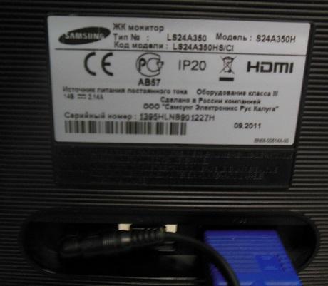 ремонт монитора Samsung S24A350H