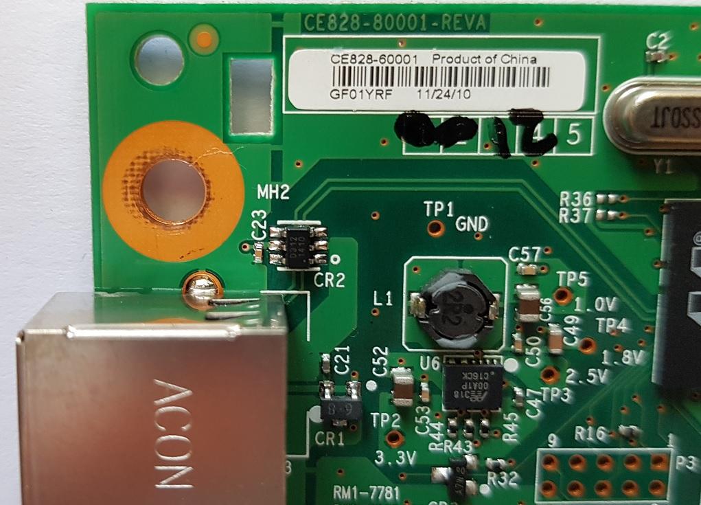 восстановление печати через USB в HP Laserjet CP1025 Color