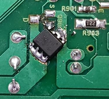 ремонт платы управления двигателем HP 1536dnf