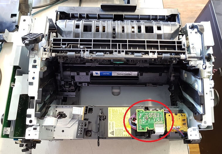 HP 1536dnf плата управления двигателем