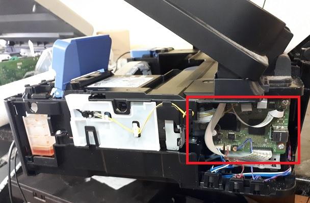 Снятие сканера Canon G3400