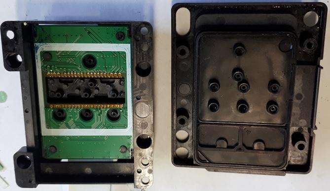 разборка и сушка головки Epson WF-7620