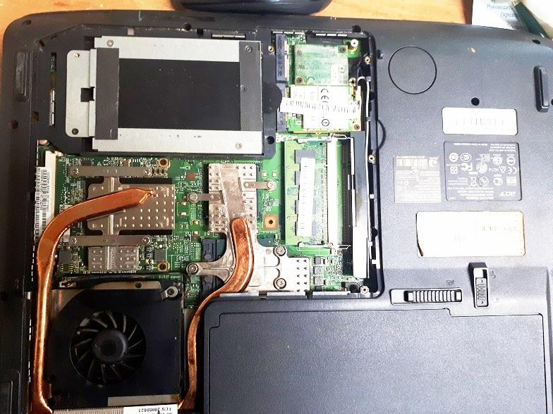 система охлаждения ноутбука курильщика
