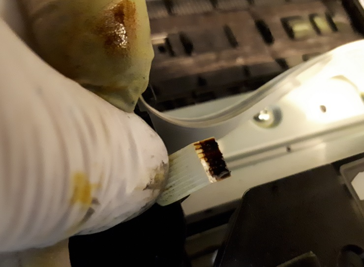 Залитый шлейф платы CSIC Epson PX720WD и ошибка 0x9A