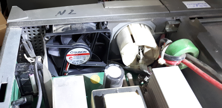 Замена вентилятора в UPS EX 2200 RT2U