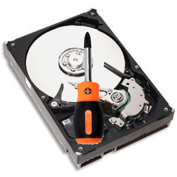 починка жесткого диска в ноутбуках