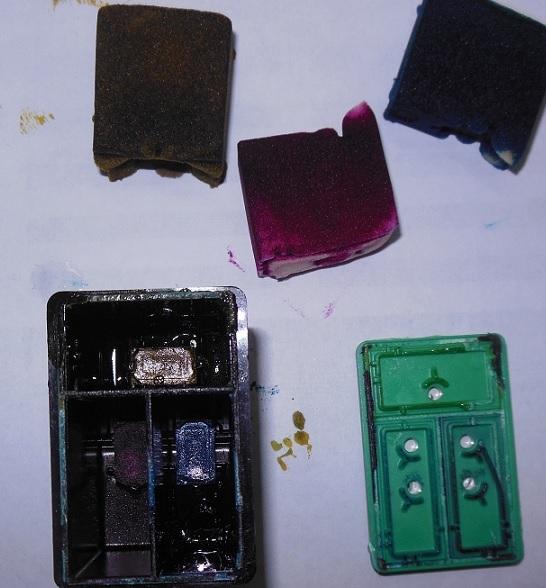 устройство цветного картриджа HP