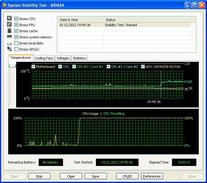 System Stability test Run