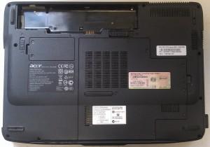 Корпус ноутбука Acer 4520 снизу