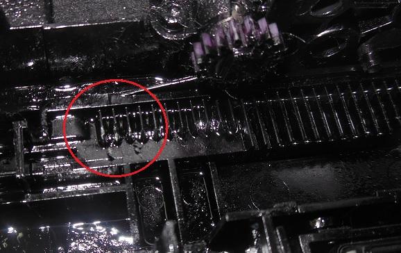 повреждены зубцы каретки принтеров HP 5525 3525 3070