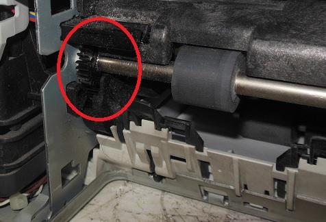 ремонт замятия бумаги HP Photosmart принтера