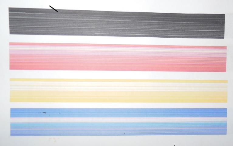 засорение печатающей головки принтера