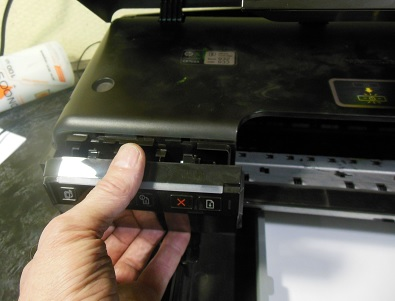 разборка HP Officejet 7110 снимаем крышку управления
