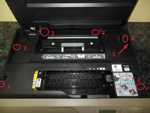 Разборка HP DeskJet Ink Advantage 4625