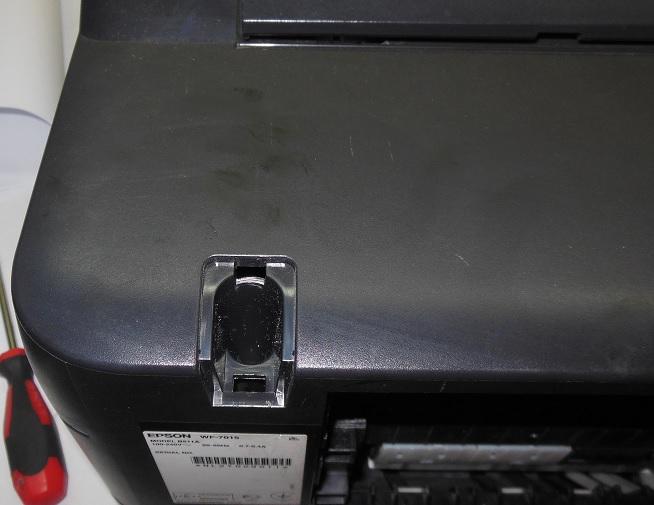 разборка WF-7015 снимаем декоративные крышки