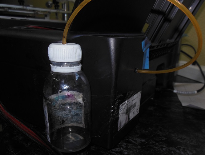 Epson вывод отработанных чернил