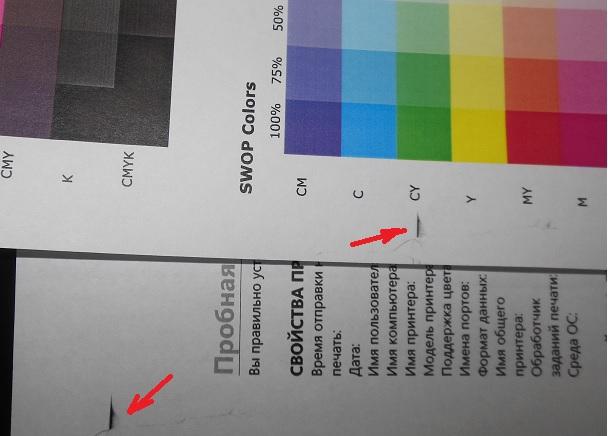 дефекты печати Samsung CLP-315