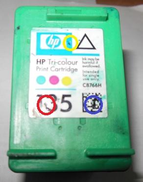 заправка картриджа HP 135