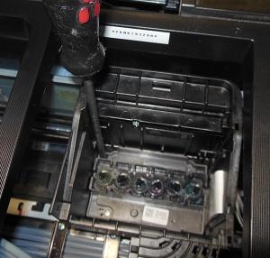 снятие печатающей головки Epson L800