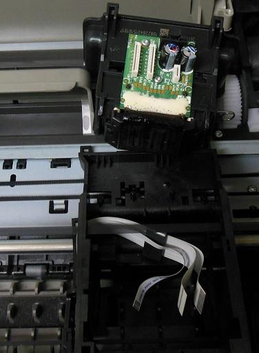 снятие головки HP 5525, не печатает черным