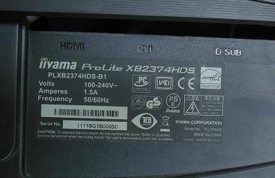 ремонт монитора iiYama Prolite XB2374HDS