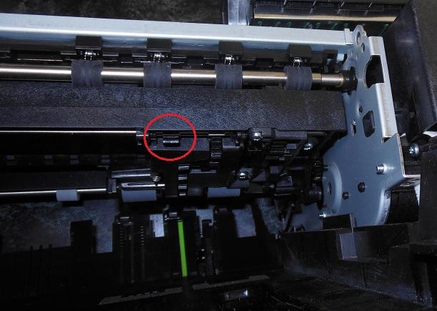 ремонт нижнего редуктора принтера HP Photosmdrt C310b