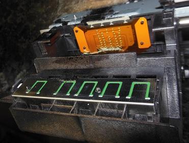 каретка hp C310b снизу