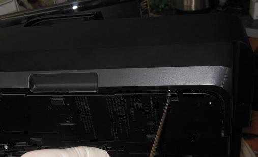 разборка MG6440 снимаем боковую крышку